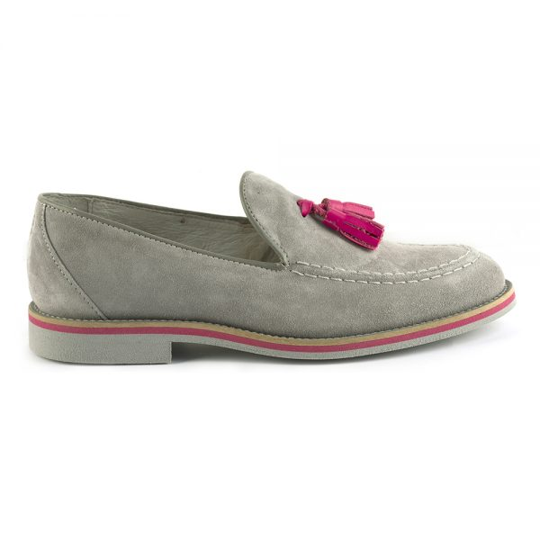 RYG Shoes - Lisbon grey and RYG Shoes - Lisbon grey and fuxia loafers