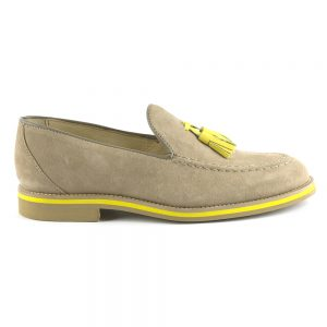 RYG Shoes - Lisbon Beige and Yellow Loafers